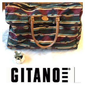 Gitano  Vintage Aztec Tribal Duffel Weekender Bag